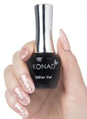76 konad gel Polish Glitter Rose Pink