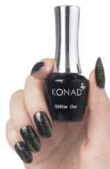 79 konad gel Polish Glitter Gold Black