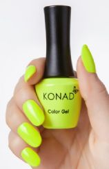 ג'ל לק konad gel NEON YELLOW 66